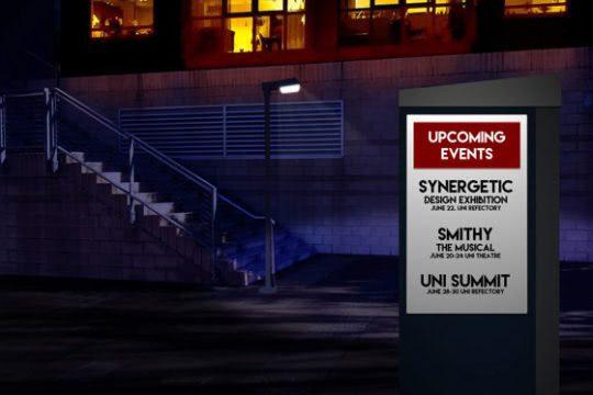 Metrospec Outdoor Notice Board Display