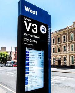 LCD Digital Bus Stop Totem