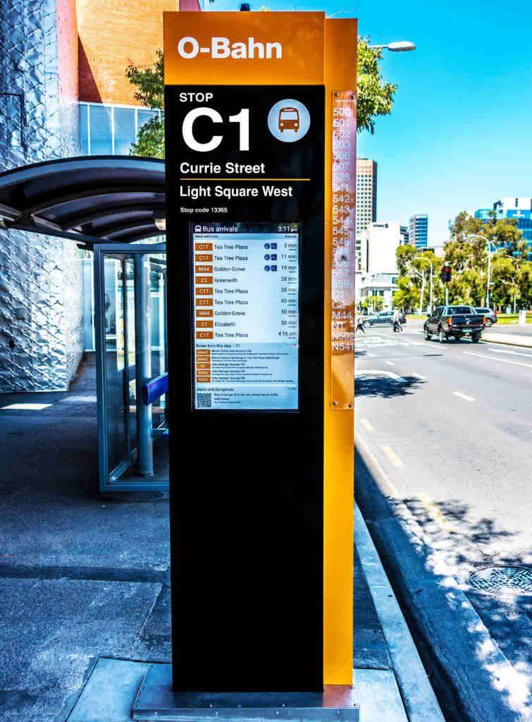 outdoor digital totem - O-Bahn Bus Stop