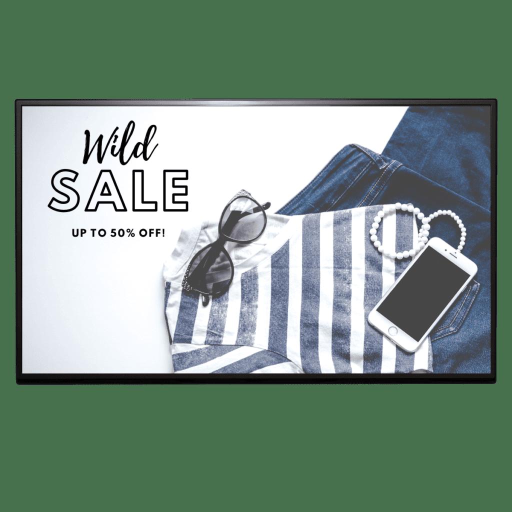 AUO UHD 4K Display Sale Sign